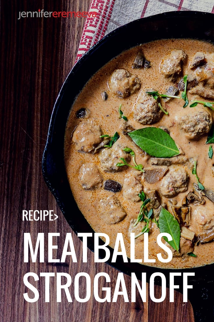 The Convenience of Meatballs with the Classic Flavors of Stroganoff