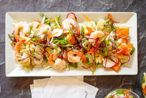 Jennifer Eremeeva makes Shrimp, Fennel, and Orange Salad