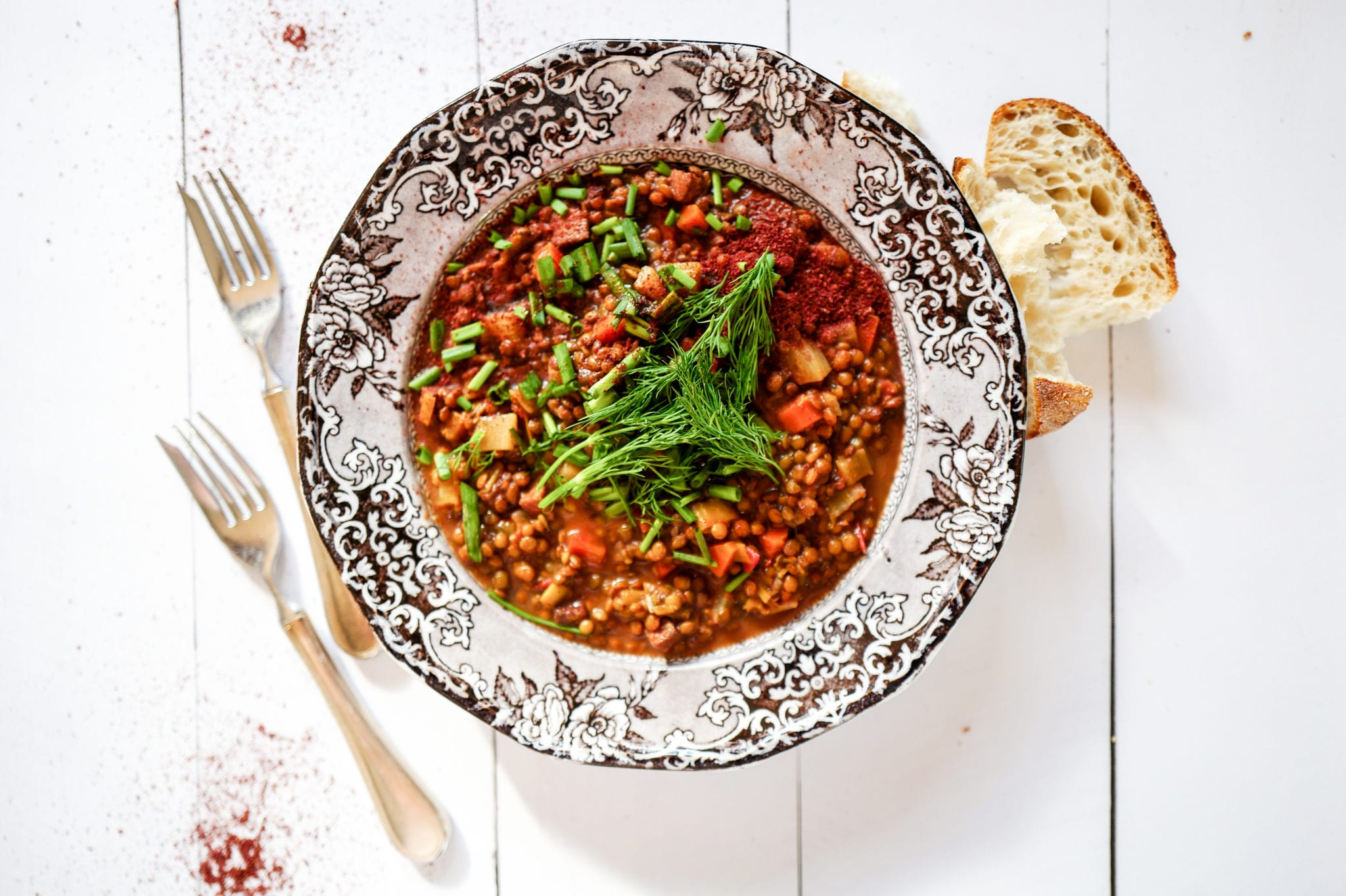 Making Home: Lentil & Sausage Stew